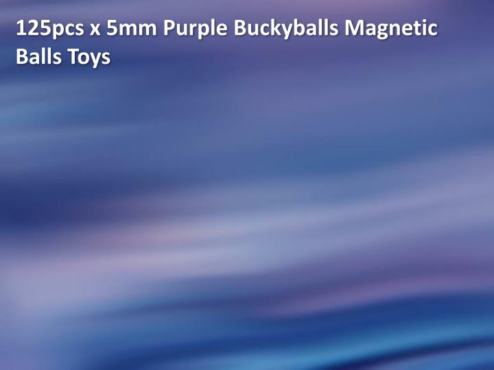 125pcs x 5mm Purple Buckyballs Magnetic Balls Toys