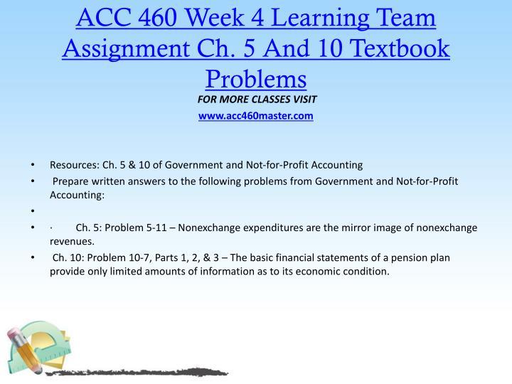 acc 460 week 3 learning team