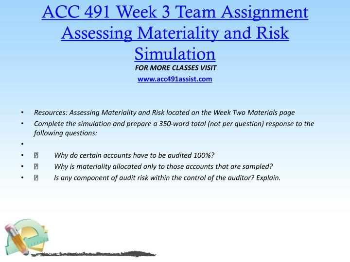 assessing materiality and risk simulation essay