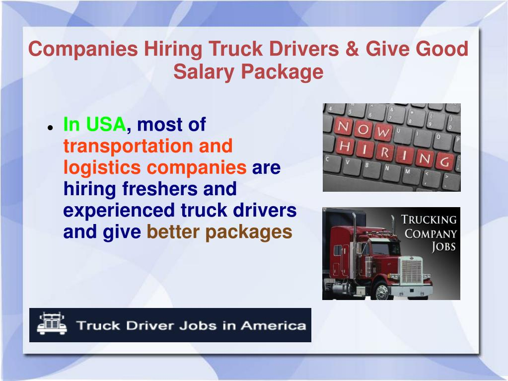 Ppt Easily Find Truck Drivers Jobs Powerpoint Presentation Free Download Id 7316419