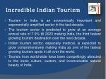 incredible indian tourism
