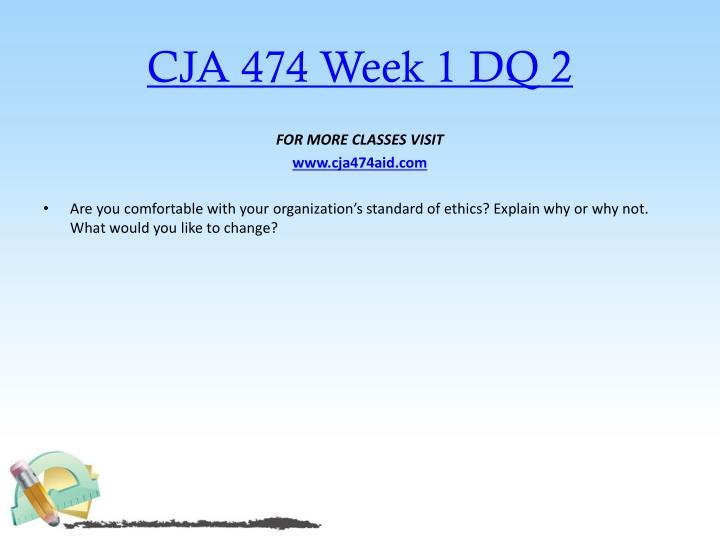 CJA 474 Week 1 DQ 2