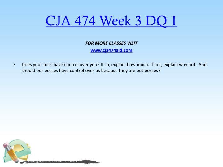CJA 474 Week 3 DQ 1