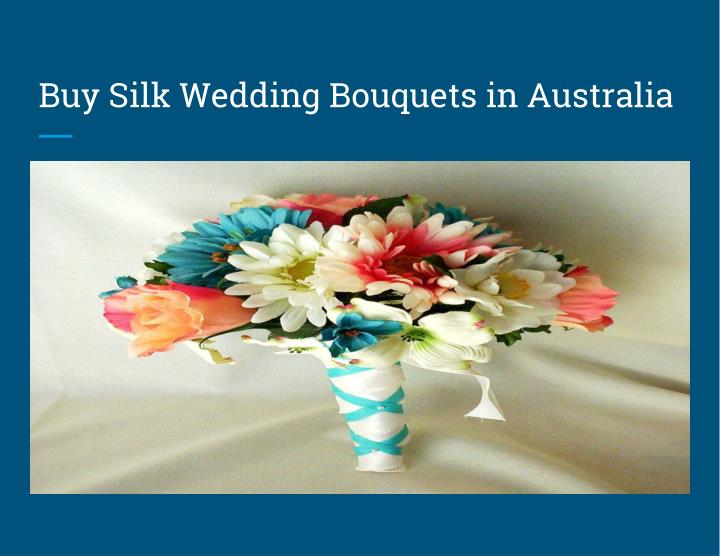 Buy Silk Wedding Bouquets in Australia