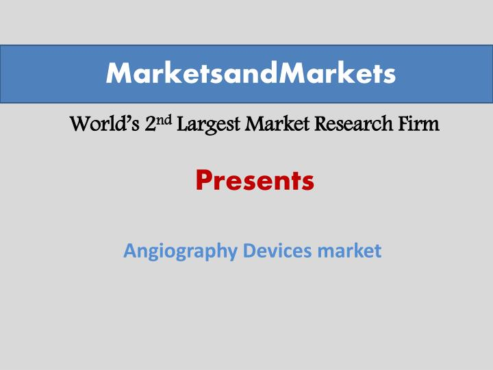world s 2 nd largest market research firm