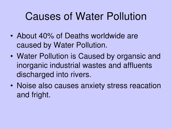 essay writing on water pollution Creative writing term papers (paper 3400) on water pollution cause and effect: water pollution is a global plague that affects the people, animals, and plants these life forms need water to survive.