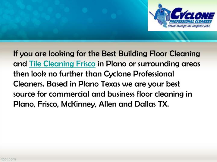 Ppt Frisco Tile And Floor Cleaning Powerpoint
