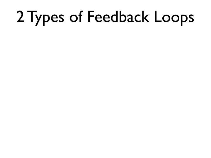 2 Types of Feedback Loops