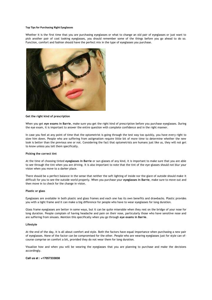 f09e95e037f PPT - Top Tips for Purchasing Right Eyeglasses PowerPoint ...