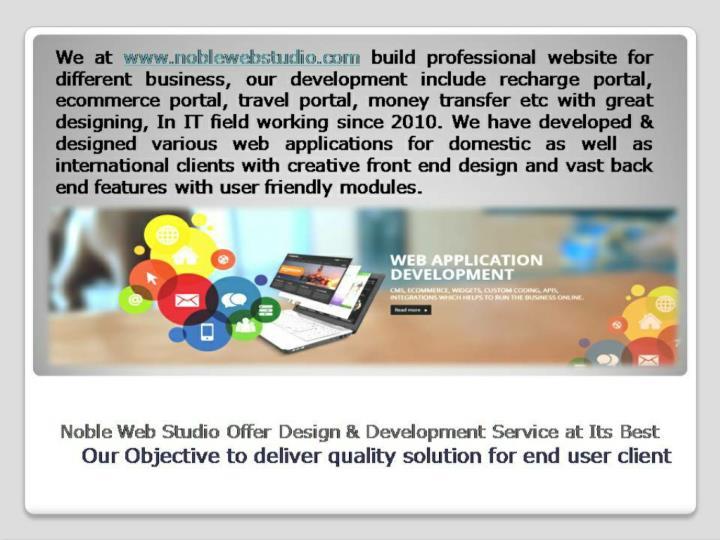 Mobile app and web application development