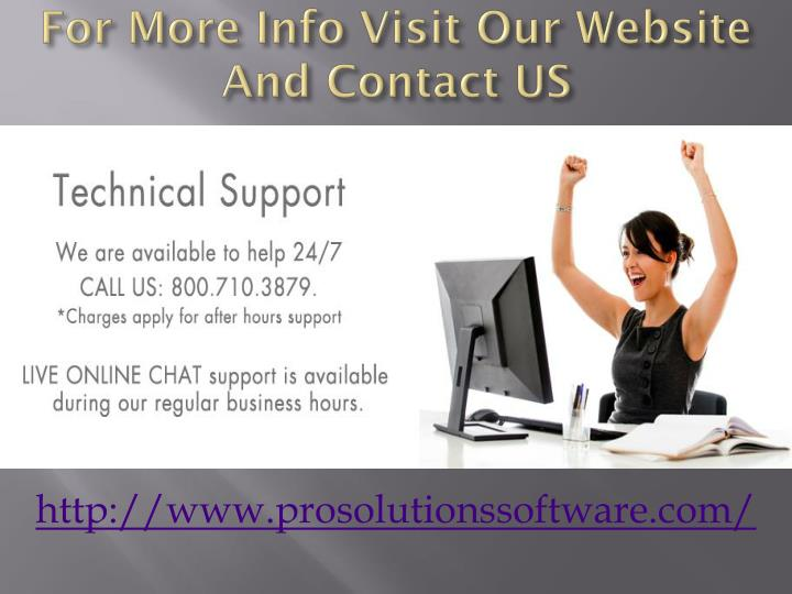 For More Info Visit Our Website And Contact US