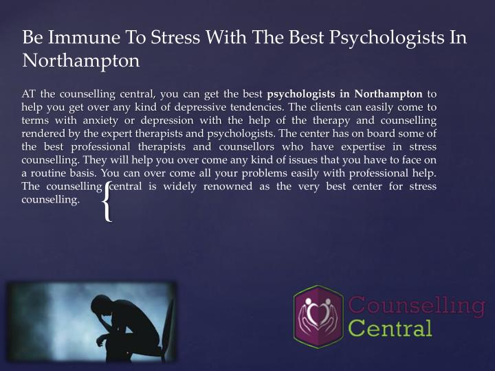 be immune to stress with the best psychologists in northampton