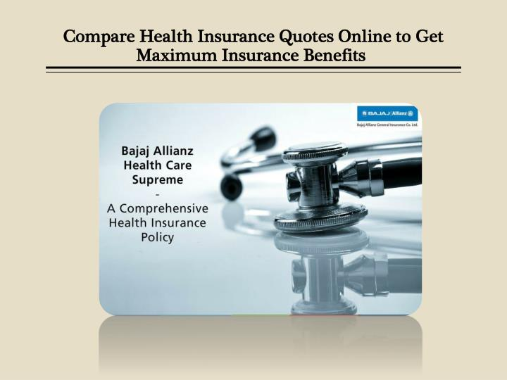 Compare Health Insurance Quotes Online To Get