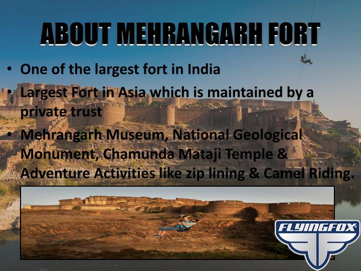 About mehrangarh fort