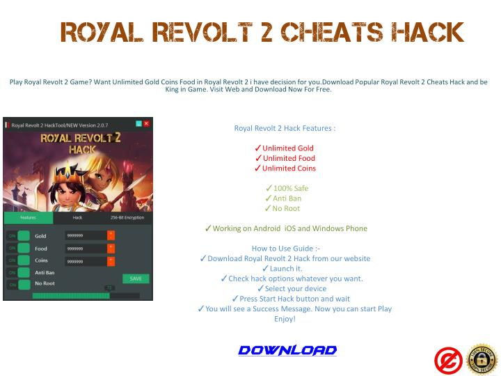 PPT - Royal Revolt 2 Cheats Hack Android iOS Windows Phone