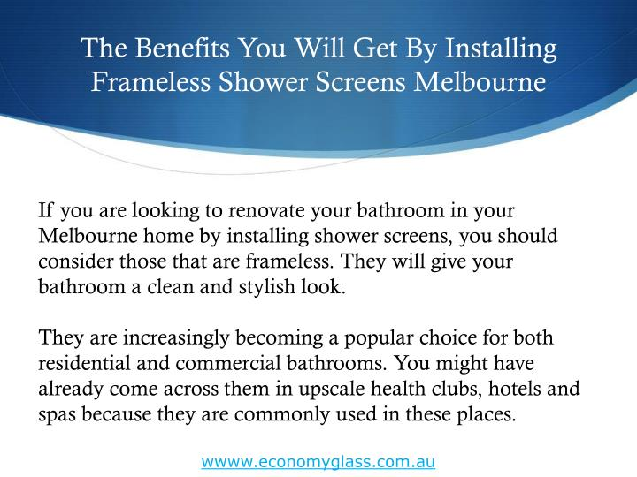 The benefits you will get by installing frameless shower screens melbourne1