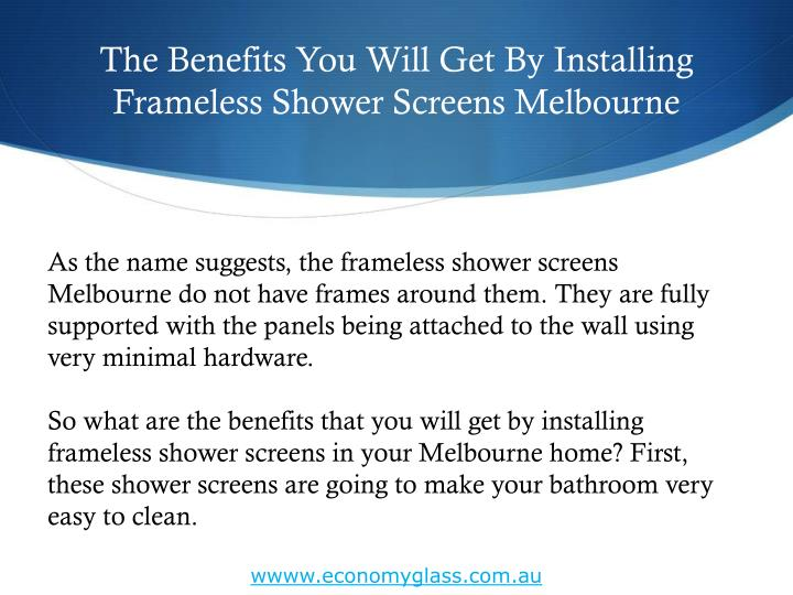 The benefits you will get by installing frameless shower screens melbourne2