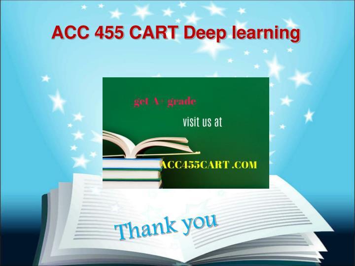ACC 455 CART Deep learning