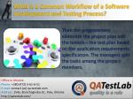 what is a common workflow of a software development and testing process3