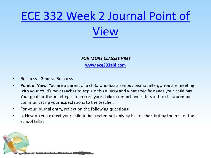 ECE 332 Week 2 Journal Point of View