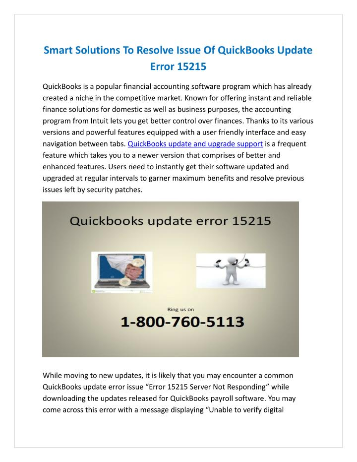 PPT - Smart Solutions To Resolve Issue Of QuickBooks Update