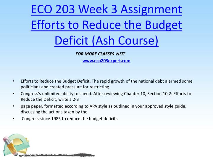 eco assignment
