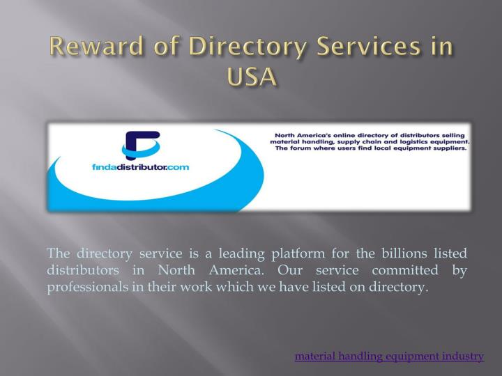directory services Definition of directory services: network administrator and/or user access facility provided by a networking software that lists all available resources.