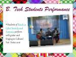 b tech students performance