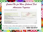 contact us for more cultural fest admission inquiries
