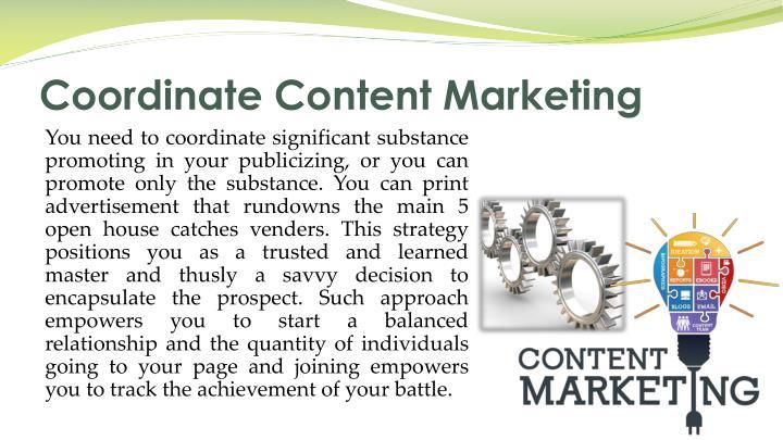 Coordinate content marketing