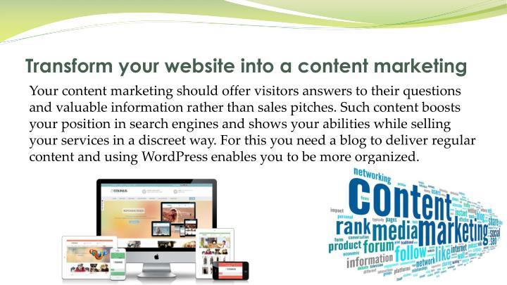 Transform your website into a content marketing