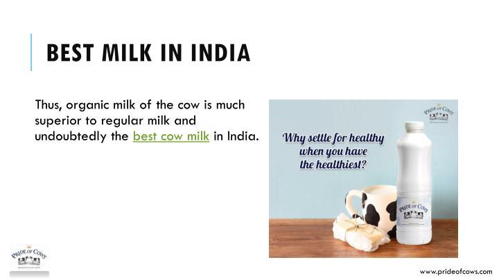 Best milk in India
