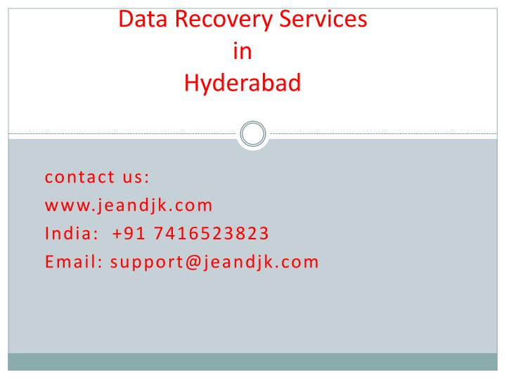 data recovery services in hyderabad n.