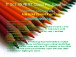 it 205 expert quest for excellence6