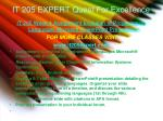 it 205 expert quest for excellence7