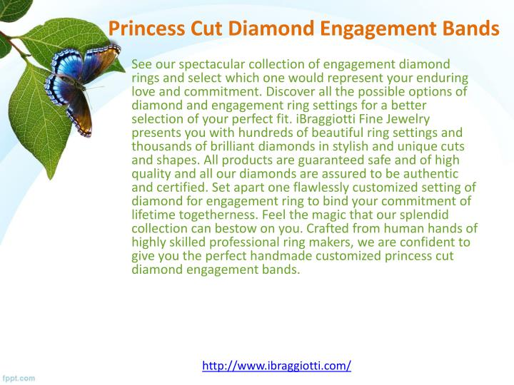 Princess cut diamond engagement bands