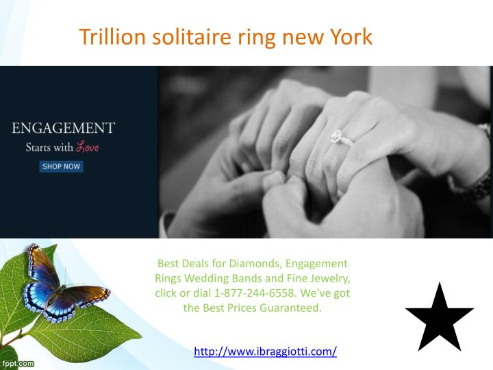 Trillion solitaire ring new york