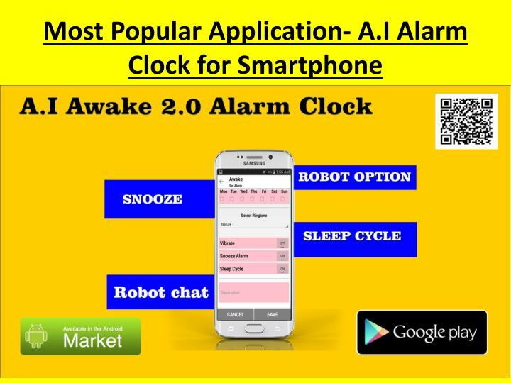 Most popular application a i alarm clock for smartphone1