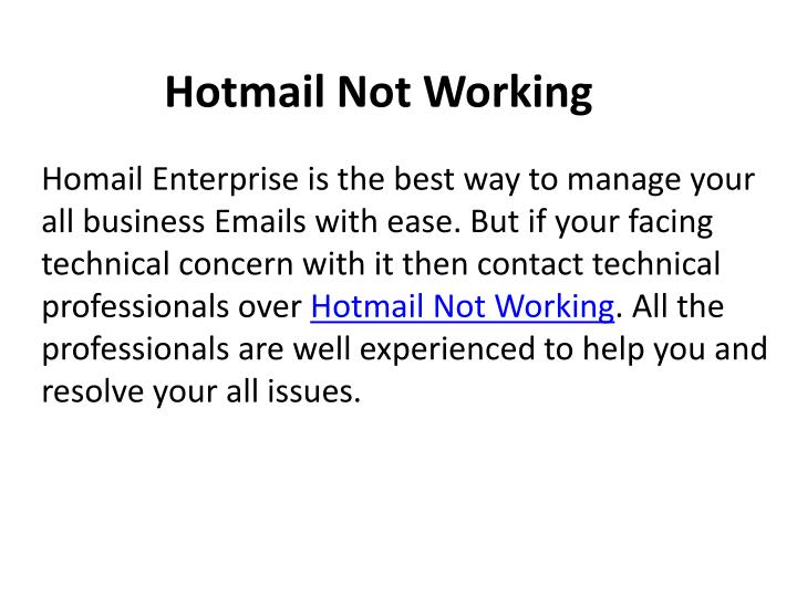 how to tell if hotmail is working