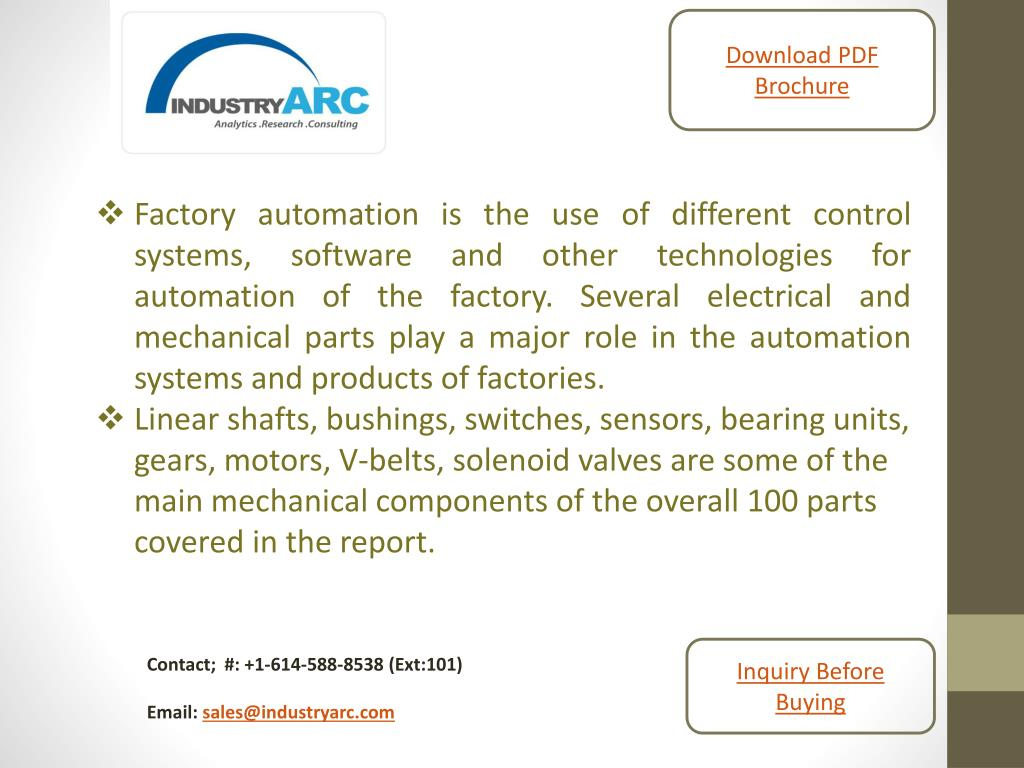 PPT - Global industrial and factory automation equipment and