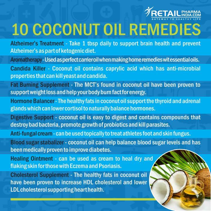 10 COCONUT OIL REMEDIES