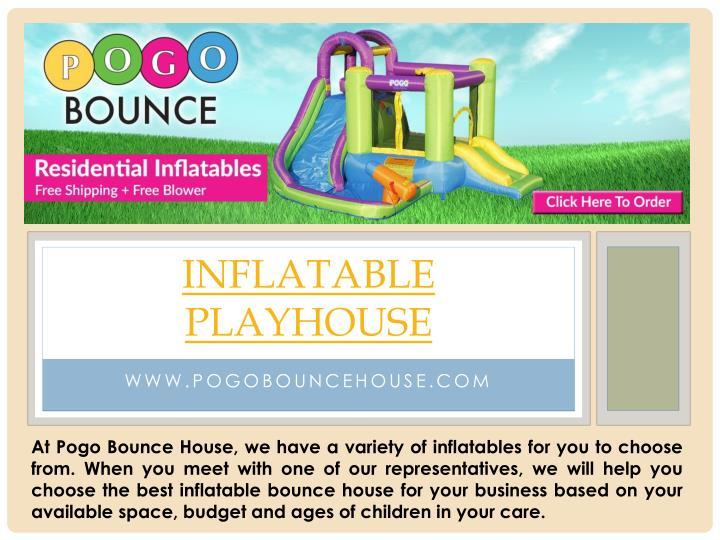 Inflatable playhouse