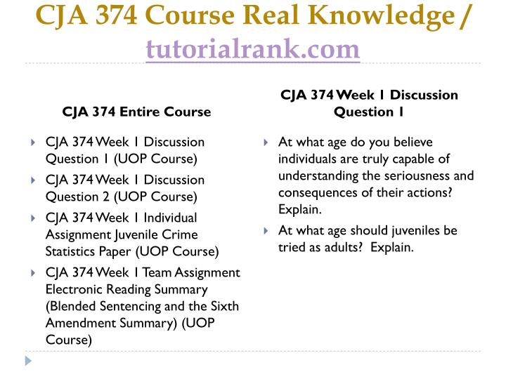Cja 374 course real knowledge tutorialrank com1
