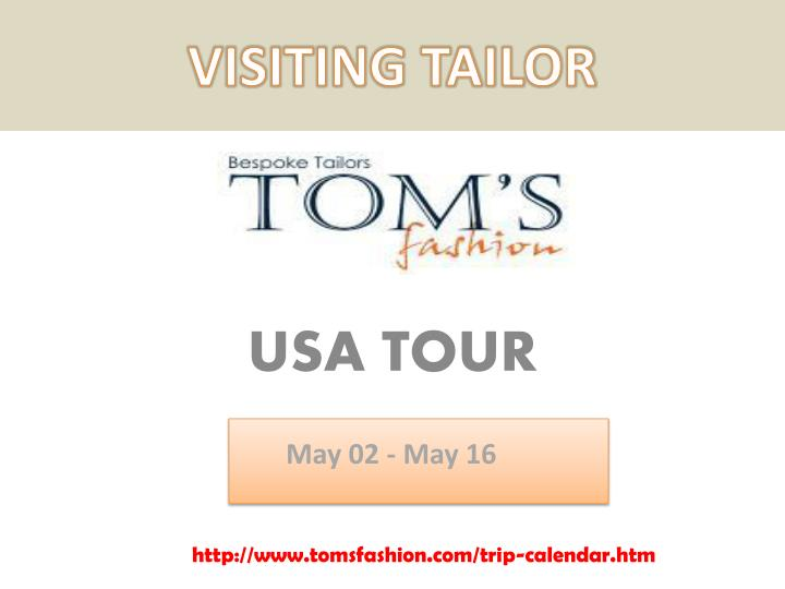 visiting tailor n.