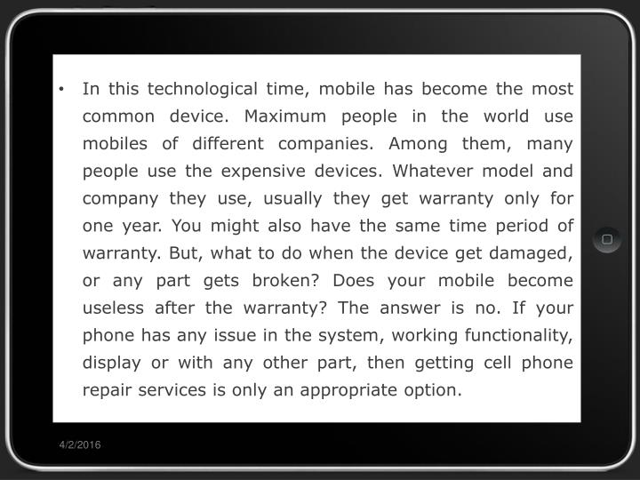 In this technological time, mobile has become the most common device. Maximum people in the world us...