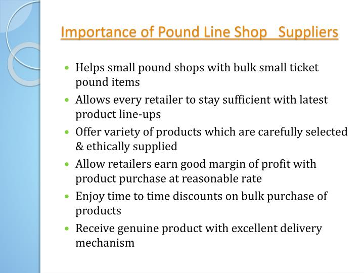 PPT - Importance of Clearance King Pound Line Shop Suppliers