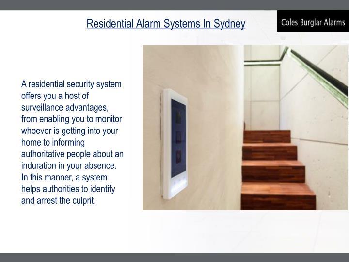 Residential Alarm Systems In Sydney