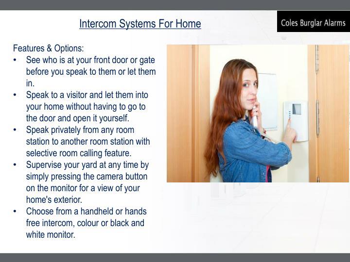 Intercom Systems For Home