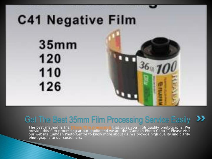 Get The Best 35mm Film Processing Service Easily