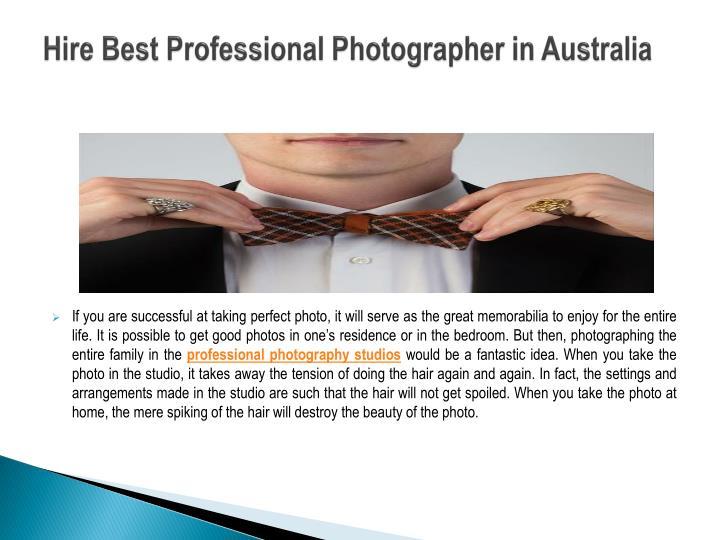 Hire best professional photographer in australia